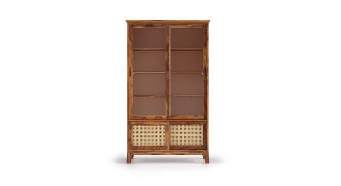 Fujiwara Display Cabinet (Teak Finish, Yes) by Urban Ladder