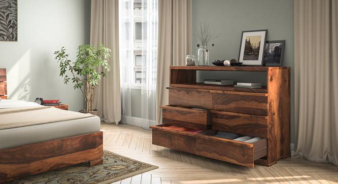 Ohio Chest Of Drawers (Teak Finish, Yes) by Urban Ladder