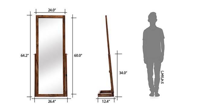 Sirius Standing Mirror (Teak Finish, Yes) by Urban Ladder