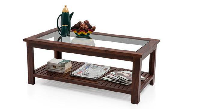 Claire Coffee Table (Teak Finish, Large Size, Yes) by Urban Ladder