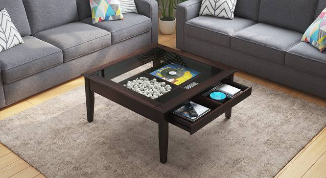 Tate Display Coffee Table (Mahogany Finish, Yes) by Urban Ladder