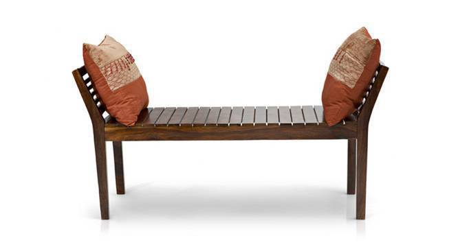 Latt Bench (Teak Finish, Without Upholstery Configuration, Yes) by Urban Ladder