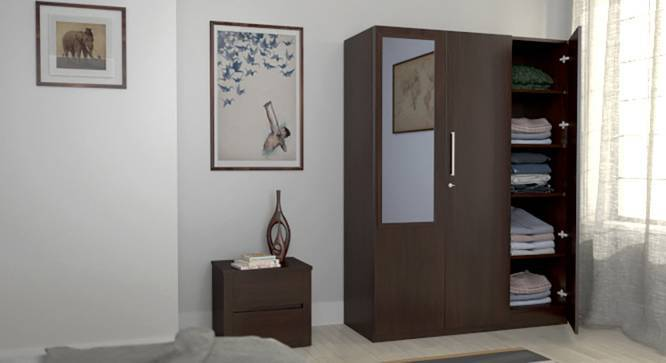 Domenico Wardrobe (Three Door, Yes Mirror, Without Drawer Configuration, Yes) by Urban Ladder