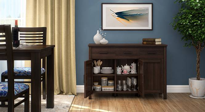Norland Sideboard (Dark Walnut Finish, Standard Size, Yes) by Urban Ladder