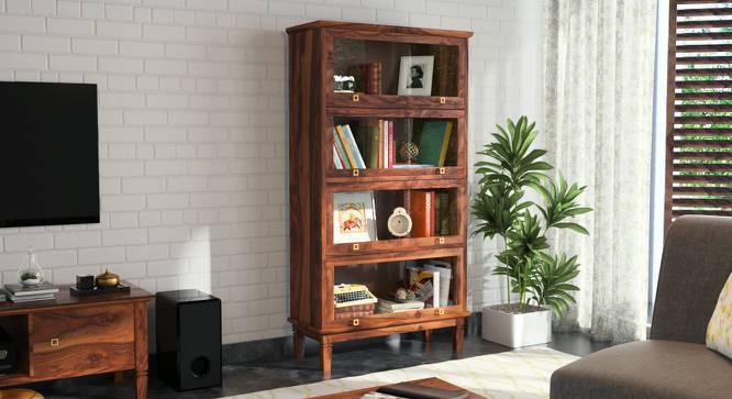 Malabar Barrister Bookshelf (Teak Finish, Yes) by Urban Ladder
