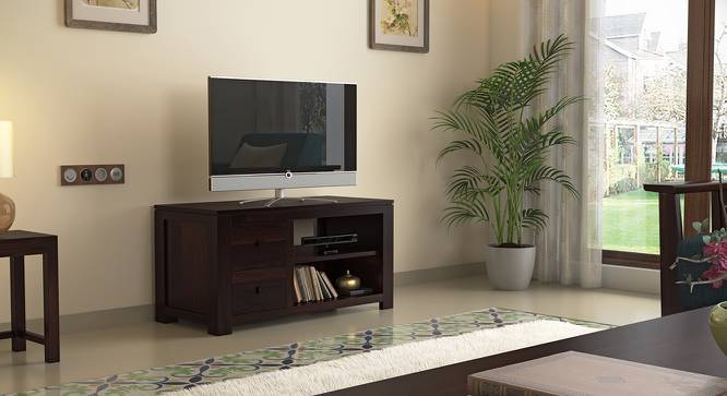 Striado TV Unit (Mahogany Finish, Yes) by Urban Ladder