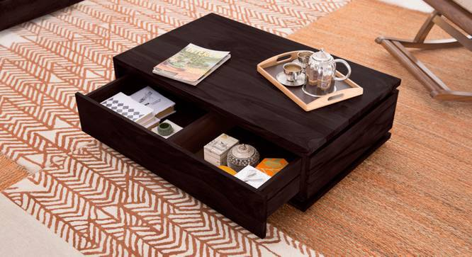 Vector Storage Coffee Table (Mahogany Finish, Yes) by Urban Ladder