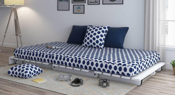 Finn Futon Sofa Cum Bed (Inkblot Blue, Yes) by Urban Ladder