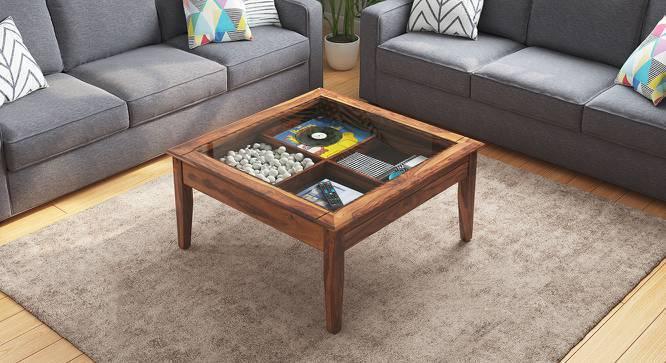 Tate Display Coffee Table (Teak Finish, Yes) by Urban Ladder