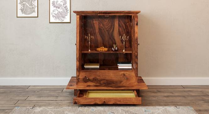 Devoto Prayer Cabinet (Teak Finish, With Drawer Configuration, Yes) by Urban Ladder