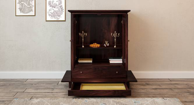 Devoto Prayer Cabinet (Mahogany Finish, With Drawer Configuration, Yes) by Urban Ladder