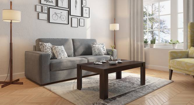 Striado Coffee Table (Mahogany Finish, Without Shelves Configuration, Yes) by Urban Ladder