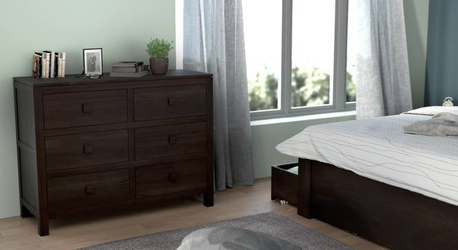 Magellan 6 Drawer Chest of Drawers (Mahogany Finish, Yes) by Urban Ladder