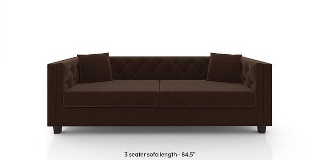 Windsor Sofa (Dark Earth) (1-seater Custom Set - Sofas, None Standard Set - Sofas, Dark Earth, Fabric Sofa Material, Regular Sofa Size, Regular Sofa Type)