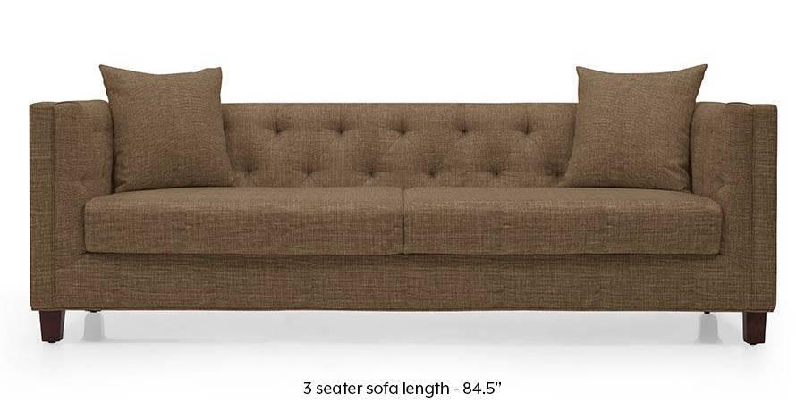 Windsor Sofa Dune Brown Urban Ladder, Brown Material Sofa Bed