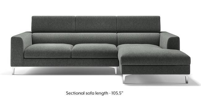 Chelsea Adjustable Sectional Sofa (Grey) (Grey, None Custom Set - Sofas, Left Aligned 3 seater + Chaise Standard Set - Sofas, Fabric Sofa Material, Regular Sofa Size, Sectional Sofa Type)