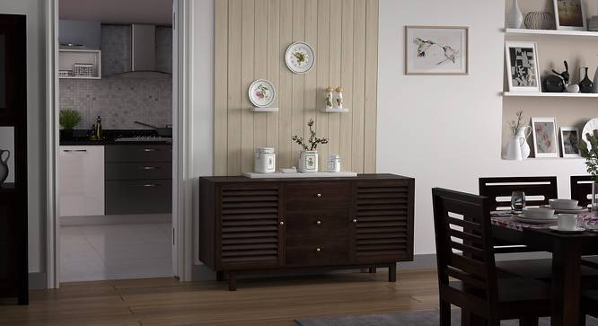 Terence Sideboard Cum Bar Unit (Mahogany Finish) by Urban Ladder