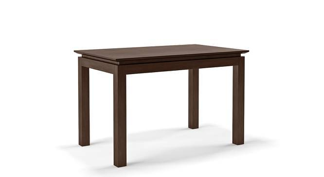 Diner 4 Seater Dining Table Set (With Upholstered Chairs) (Dark Walnut Finish) by Urban Ladder