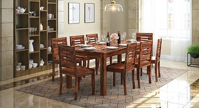 Arabia XXL - Capra 8 Seater Dining Table Set (Teak Finish) by Urban Ladder