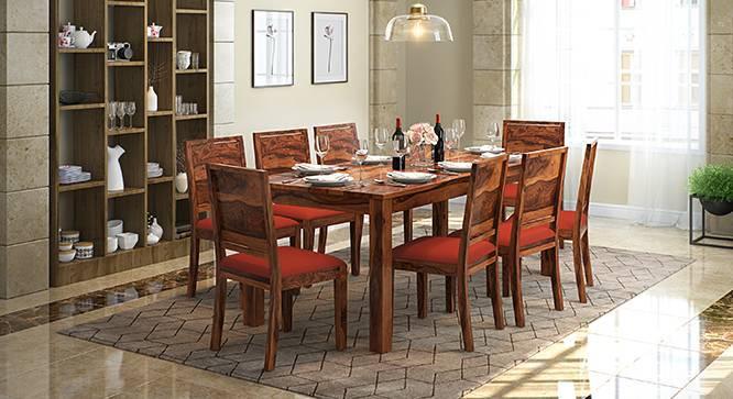 Arabia XXL - Oribi 8 Seater Dining Table Set (Teak Finish, Burnt Orange) by Urban Ladder