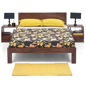 Valencia Essential Bedroom Set (Teak Finish) (Queen Bed Size) by Urban Ladder