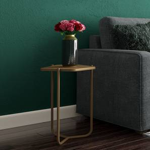 Karl Side Table (Gold, Large Size) by Urban Ladder