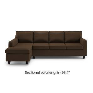 Walton Compact Sectional Sofa (Desert Brown)