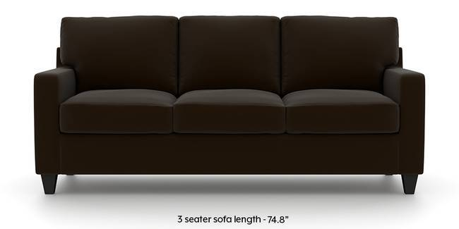 Walton Leatherette Sofa (Chocolate) (Chocolate, Leatherette Sofa Material, Regular Sofa Size, Regular Sofa Type)