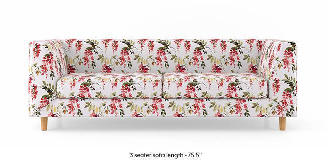 Rubik Sofa (Carmine Cassia) (2-seater Custom Set - Sofas, None Standard Set - Sofas, Carmine Cassia, Fabric Sofa Material, Regular Sofa Size, Regular Sofa Type)