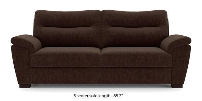 Adelaide Sofa (Dark Earth Brown) (Dark Earth, Fabric Sofa Material, Regular Sofa Size, Regular Sofa Type)