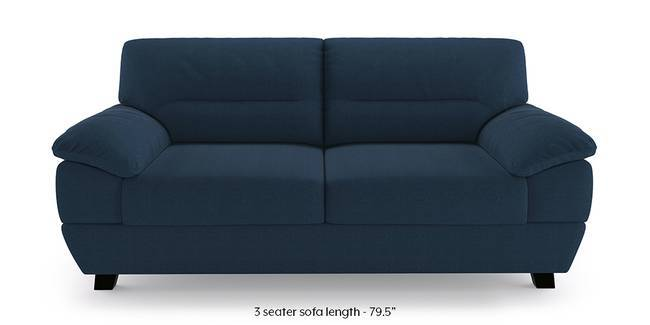 Alora Sofa (Yale Blue) (3-seater Custom Set - Sofas, None Standard Set - Sofas, Cobalt, Fabric Sofa Material, Regular Sofa Size, Regular Sofa Type)