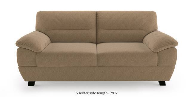 Alora Sofa (Safari Brown) (3-seater Custom Set - Sofas, None Standard Set - Sofas, Mist, Fabric Sofa Material, Regular Sofa Size, Regular Sofa Type)