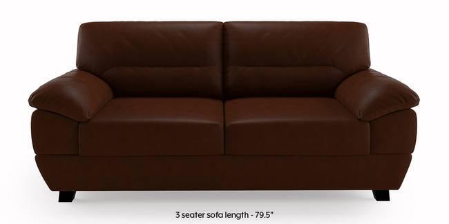 Alora Leatherette Sofa (Chocolate Brown) (3-seater Custom Set - Sofas, None Standard Set - Sofas, Chocolate Brown, Leatherette Sofa Material, Regular Sofa Size, Regular Sofa Type)
