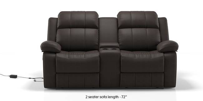 Robert Motorized Home Theatre Rocker Recliner Sofa Set Chocolate Leatherette 1 Seater