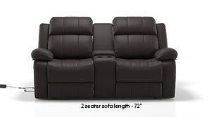 Robert Motorized Home Theatre Rocker Recliner Sofa Set (Chocolate Leatherette)