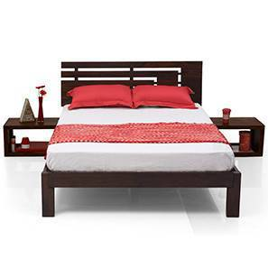 Stockholm Essential Bedroom Set  (Mahogany Finish) (Queen Bed Size) by Urban Ladder