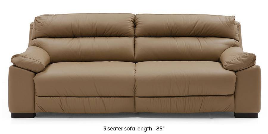 Thiene Sofa (Camel Italian Leather) - Urban Ladder