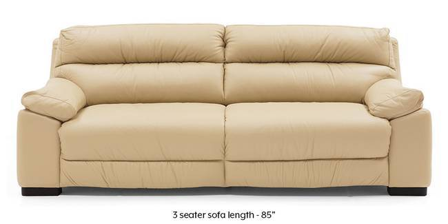 Thiene Sofa (Cream Italian Leather) (Cream, Regular Sofa Size, Regular Sofa Type, Leather Sofa Material)
