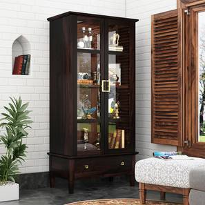 Malabar Display Cabinet (55-book capacity) (Mahogany Finish) by Urban Ladder