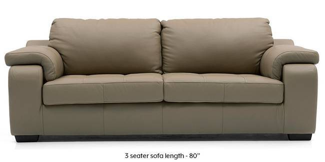 Trissino Sofa (Cappuccino Italian Leather) (Cappuccino, Regular Sofa Size, Regular Sofa Type, Leather Sofa Material)