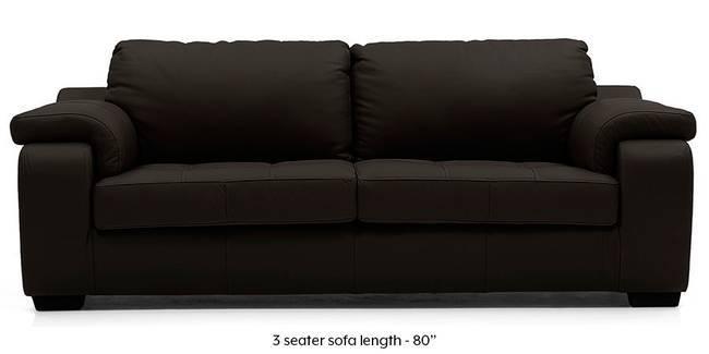 Trissino Sofa (Chocolate Italian Leather) (Chocolate, Regular Sofa Size, Regular Sofa Type, Leather Sofa Material)
