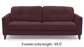Franco Sofa (Wine Italian Leather)
