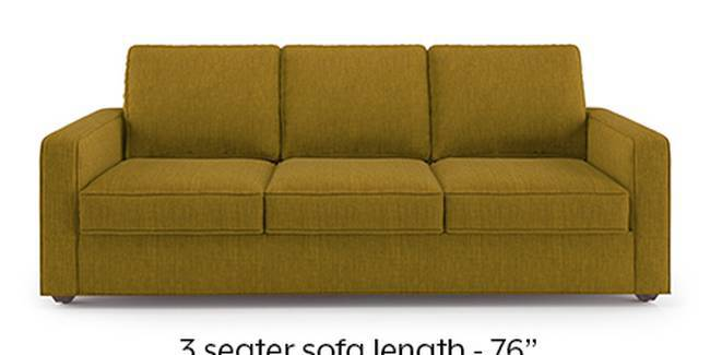 Apollo Sofa Set (Olive Green, Fabric Sofa Material, Regular Sofa Size, Soft Cushion Type, Regular Sofa Type, Master Sofa Component, Regular Back Type, Regular Back Height)