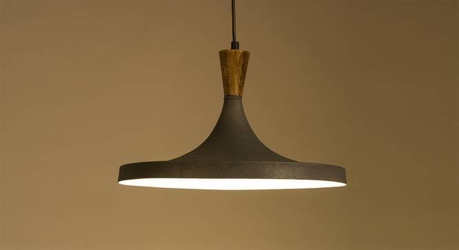 Yuma Hanging Lamp (Light Walnut Finish) by Urban Ladder