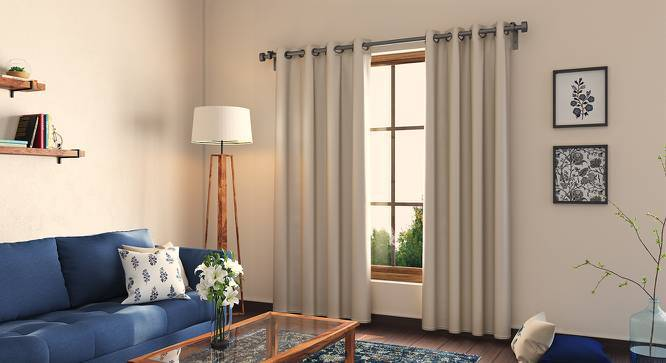 """Umbra Blackout Curtain - Set Of 2 (54""""x84"""" Curtain Size, Taupe Grey) by Urban Ladder"""