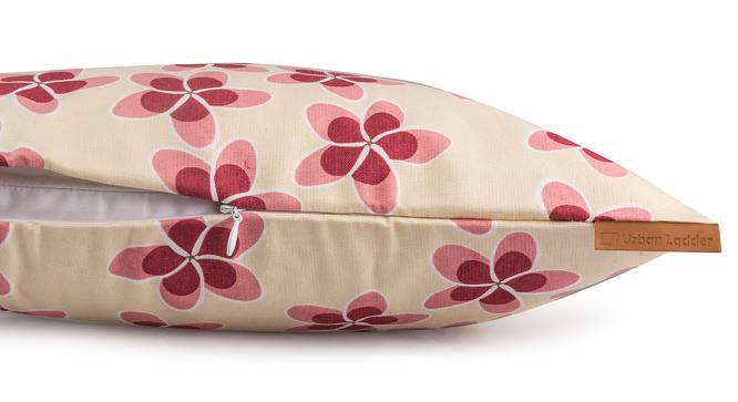"Frangipani Cushion Cover - Set of 2 (16"" X 16"" Cushion Size, Blush Petal Bliss Pattern) by Urban Ladder"