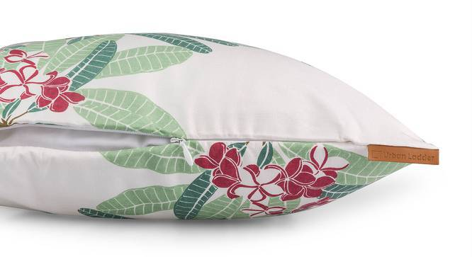 "Frangipani Cushion Cover - Set of 2 (16"" X 16"" Cushion Size, Blush Summer Bloom Pattern) by Urban Ladder"