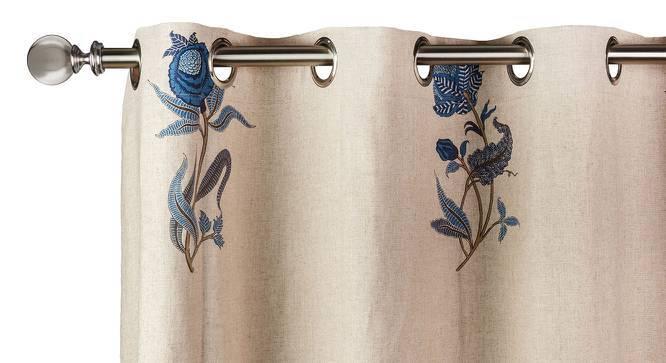 "Calico Curtains - Set of 2 (54"" x 108"" Curtain Size, Indigo - Lone Flower Pattern) by Urban Ladder"