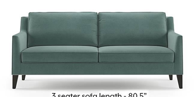 Greenwich Sofa (Fabric Sofa Material, Regular Sofa Size, Soft Cushion Type, Regular Sofa Type, Master Sofa Component, Dusty Turquoise Velvet)