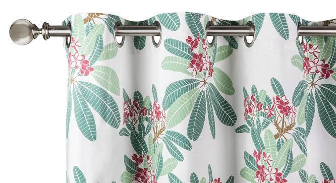 "Frangipani Curtain - Set of 2 (54""x84"" Curtain Size, Blush - Summer Blooms  Pattern) by Urban Ladder"